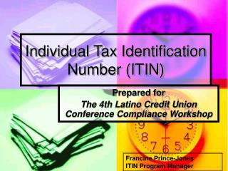 Individual Tax Identification Number ITIN