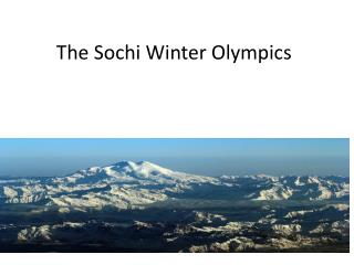 The Sochi Winter Olympics