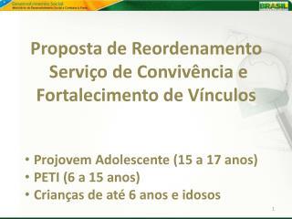 Proposta de Reordenamento  Serviço de Convivência e Fortalecimento de Vínculos