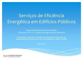 Serviços de Eficiência Energética em Edifícios Públicos