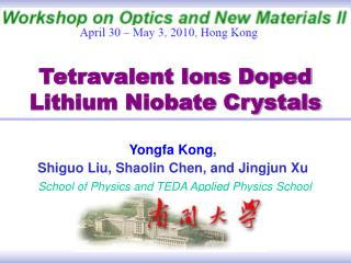 Tetravalent Ions Doped  Lithium Niobate Crystals