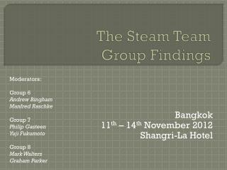 The Steam Team Group Findings