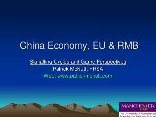 China Economy, EU & RMB