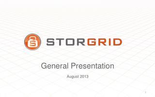 General Presentation August 2013