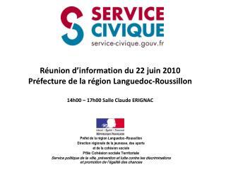 Pr�fet de la r�gion Languedoc�Roussillon Direction r�gionale de la jeunesse, des sports