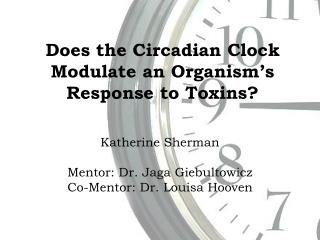 Does the Circadian Clock Modulate an Organism's Response to Toxins?