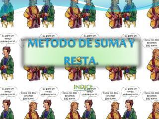 METODO DE SUMA Y RESTA.
