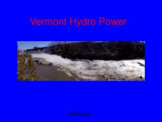 Vermont Hydro Power