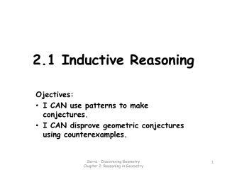 2.1 Inductive Reasoning