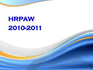 HRPAW  2010-2011