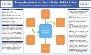 Engaging Departments with General Studies:  Building Bridges