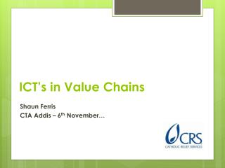 ICT's in Value Chains