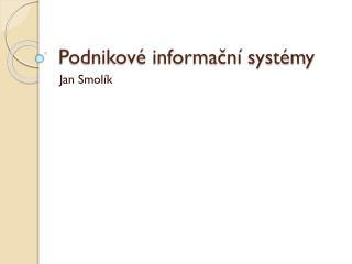 Podnikové informační systémy