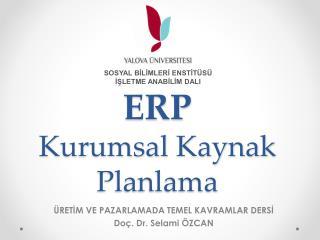 ERP Kurumsal Kaynak Planlama