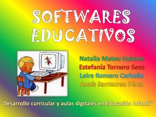 SOFTWARES  EDUCATIVOS