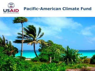 Pacific-American Climate Fund
