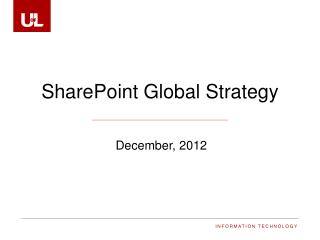 SharePoint Global  Strategy