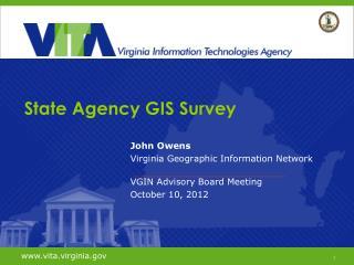 State Agency GIS Survey