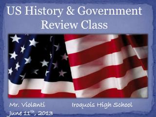 US History & Government Review Class