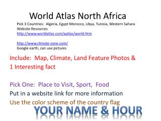 World Atlas North Africa