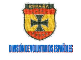 DIVISIÓN DE VOLUNTARIOS ESPAÑOLES