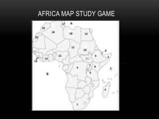 Africa Map Study Game