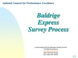 National Council for Performance Excellence