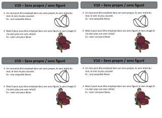 V10 � Sens propre / sens figur�