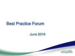 Best Practice Forum