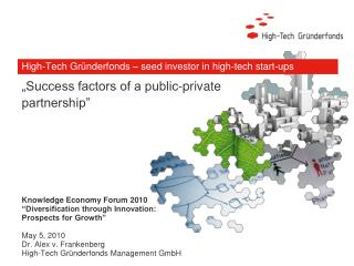 High-Tech Gründerfonds – seed investor in high-tech start-ups