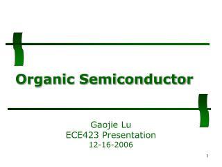 Organic Semiconductor