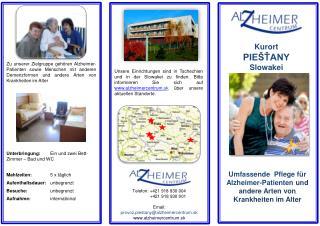 Umfassende  Pflege für Alzheimer-Patienten und andere Arten  von  Krankheiten  im  Alter