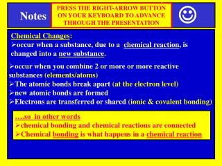 Chemical Changes :