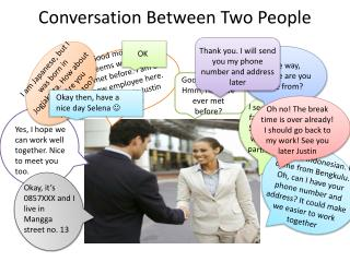 Conversation Between Two People