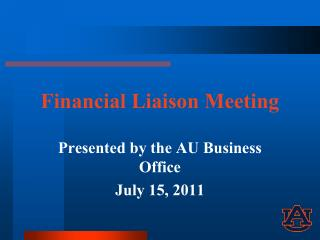 Financial Liaison Meeting