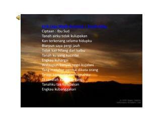 Lirik Lagu Wajib Nasional – TanahAirku Ciptaan : Ibu Sud