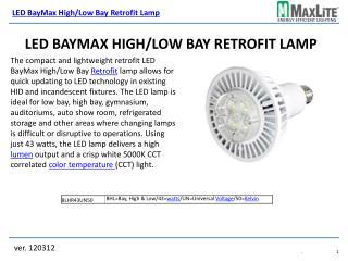 LED BayMax High/Low Bay Retrofit Lamp