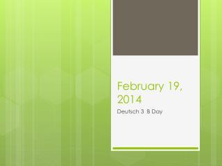 February 19, 2014