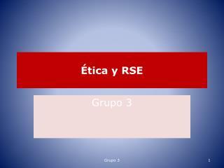 Ética y RSE