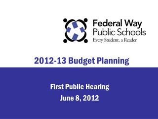 2012-13 Budget Planning