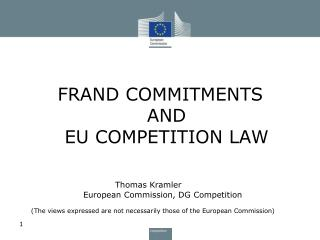 FRAND COMMITMENTS AND EU COMPETITION LAW