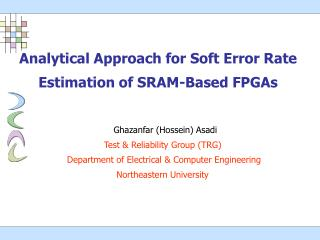 Analytical Approach for Soft Error Rate Estimation of SRAM-Based FPGAs
