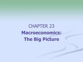 Chapter 11:  OPEN ECONOMY MACROECONOMICS