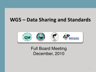 WG5 – Data Sharing and Standards