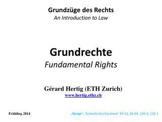 Grundrechte Fundamental Rights