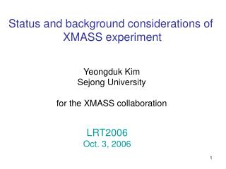 Status and background considerations of  XMASS experiment