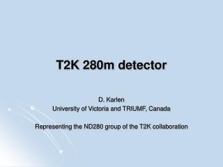 T2K 280m detector