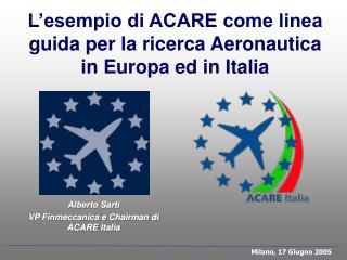 Alberto Sarti VP Finmeccanica e Chairman di ACARE Italia