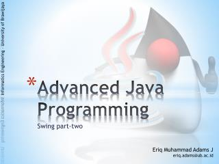 Advanced Java Programming