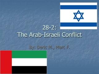 28-2: The Arab-Israeli Conflict